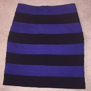 Black & Blue Bandage Pencil Skirt from Express